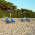 Seaside villa with private sandy beach Halkidiki